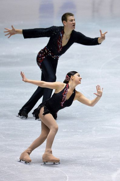Haven Denney and Brandon Frazier of the United States pair short program 2013 NHK Trophy, Pairs costume inspiration for Sk8 Gr8 Designs