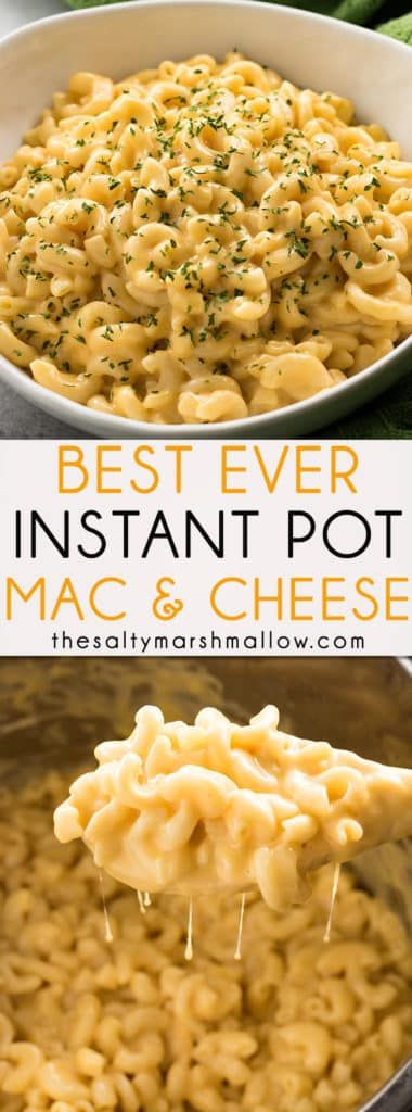 The best ever instant pot mac and cheese! This is one of my favorite Instant Pot recipes that is super easy to make for a creamy, delicious, weeknight dinner!