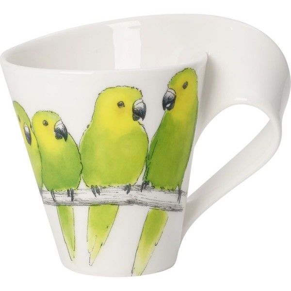 VILLEROY & BOCH New Wave Caffe Conure coffee mug 0.35l (1,985 INR) ❤ liked on Polyvore featuring home, kitchen & dining, drinkware, animal coffee mugs, ceramic mugs, ceramic coffee mugs, villeroy & boch and animal mugs