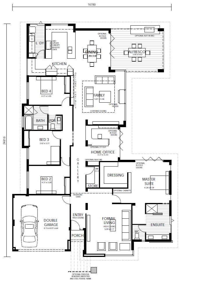 Unique 2 Bedroom House Plans The Pagoda | Webb & Brown Neaves Nice Use Of Bifold Doors