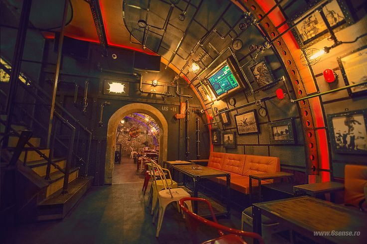 Industrial-steampunk Submarine Themed Pub | Bored Panda