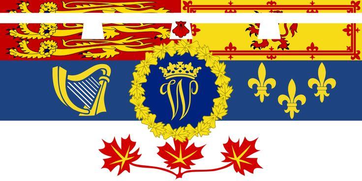Étendard canadien du prince William, créé pour sa visite officielle de 2011.