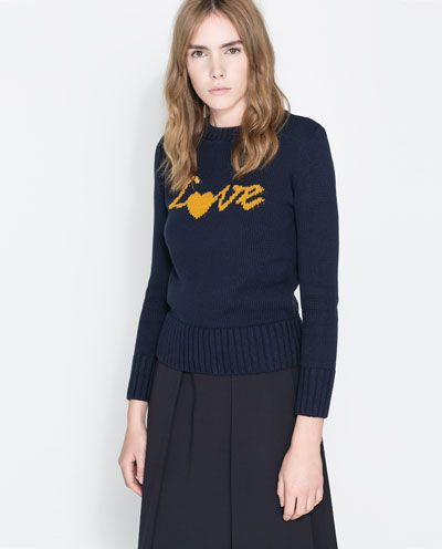 "Image 2 of ""LOVE"" SWEATER from Zara"