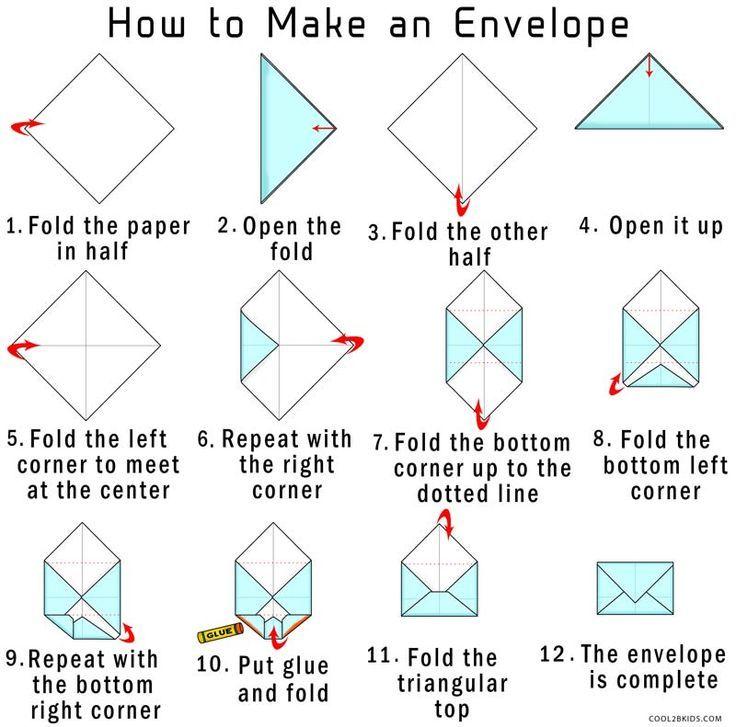 So erstellen Sie Ihren eigenen Origami-Umschlag aus Papier