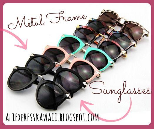 Aliexpress Kawaii Shopping: Metal Frame Sunglasses