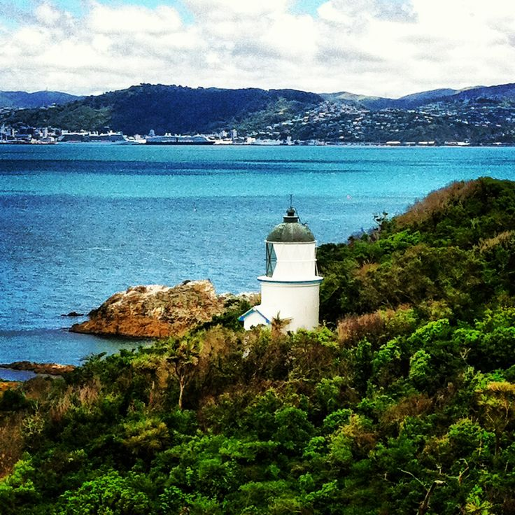 Lighthouse matiu Somes island, Wellington, New Zealand