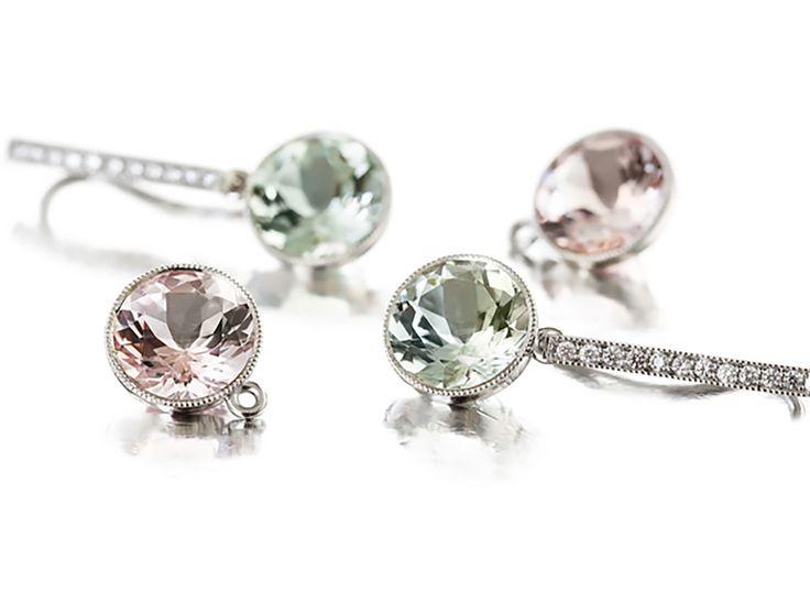 Diamond And Gemstone Earrings