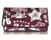 Texas Aggies checkbook cover w/pen slot.