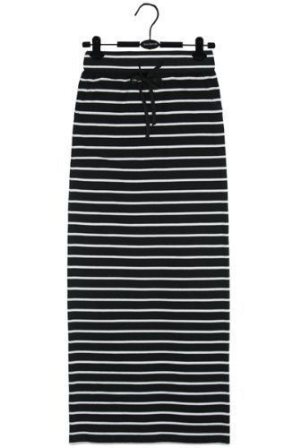 Falda larga tubo a rayas gris ,azul marino o negro