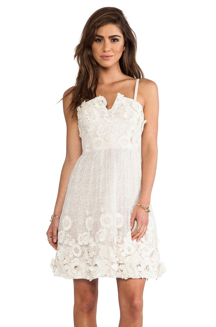 Alice + Olivia Devorah Bustier Mini Dress in White