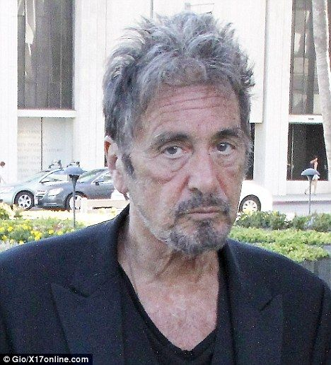 Al Pacino was looking all his 72 years as he stepped out ...