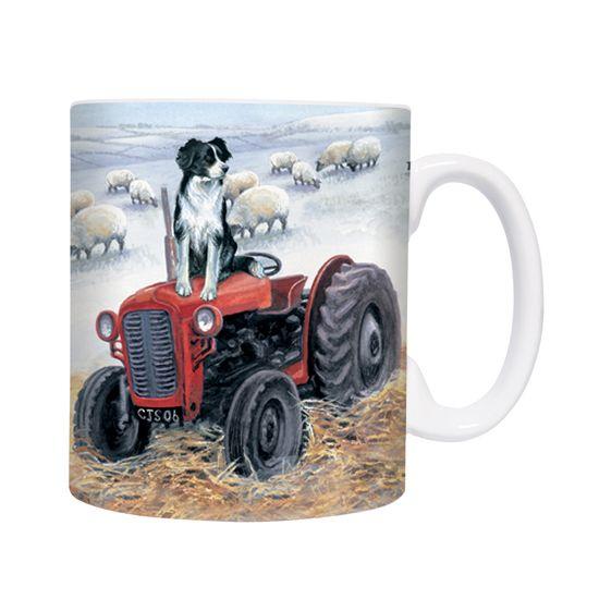 "Border Collies ""Tractor Trials"" Chunky Mug"