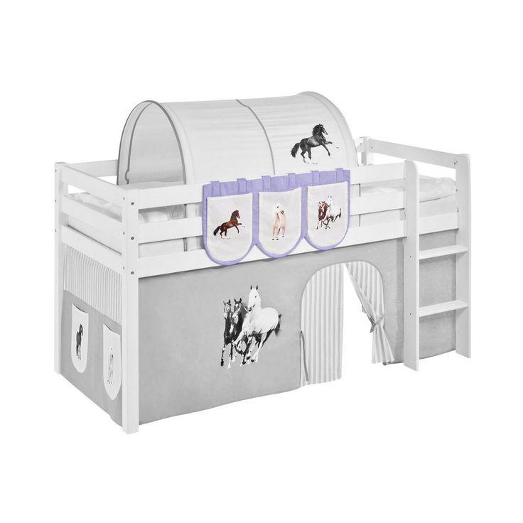 taschen fr hochbett spielbett und etagenbett pferd lila beige lilokids jetzt bestellen unter - Hausgemachte Etagenbetten Mit Rutsche