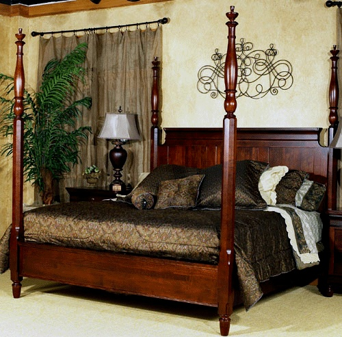King size cherry 4 poster bed Furniture, Bed furniture
