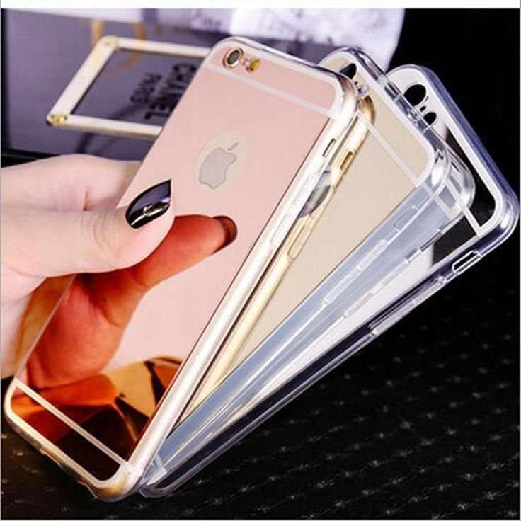 Gold rose gold silver space grey iphone 7 8 mirror