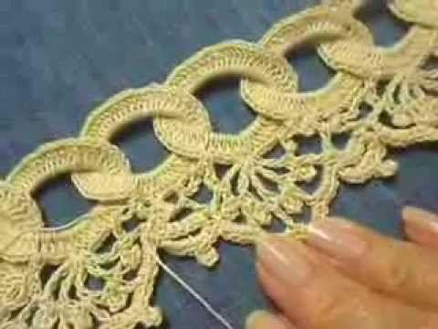 Orilla # 9 Circulos en Crochet parte 2 de 2 - YouTube