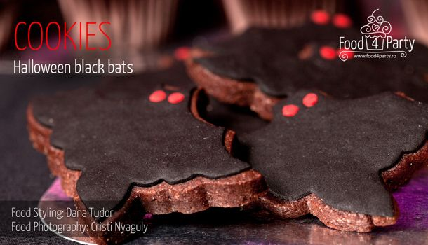 Biscuiti Black Bats de Halloween | food4party