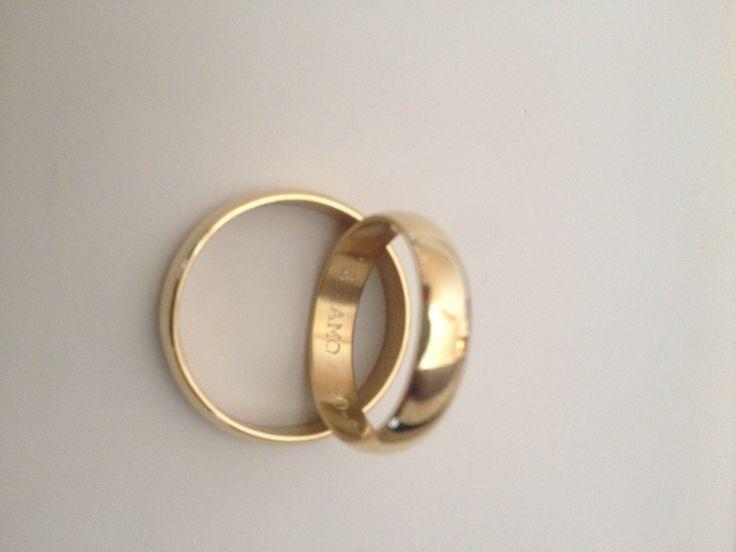 Argolla matrimonio en oro amarillo 750 (18k)