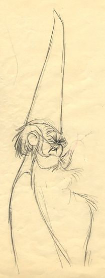 merlin sketch by Milt Kahl