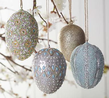 Sparkle Ornament Eggs #potterybarn