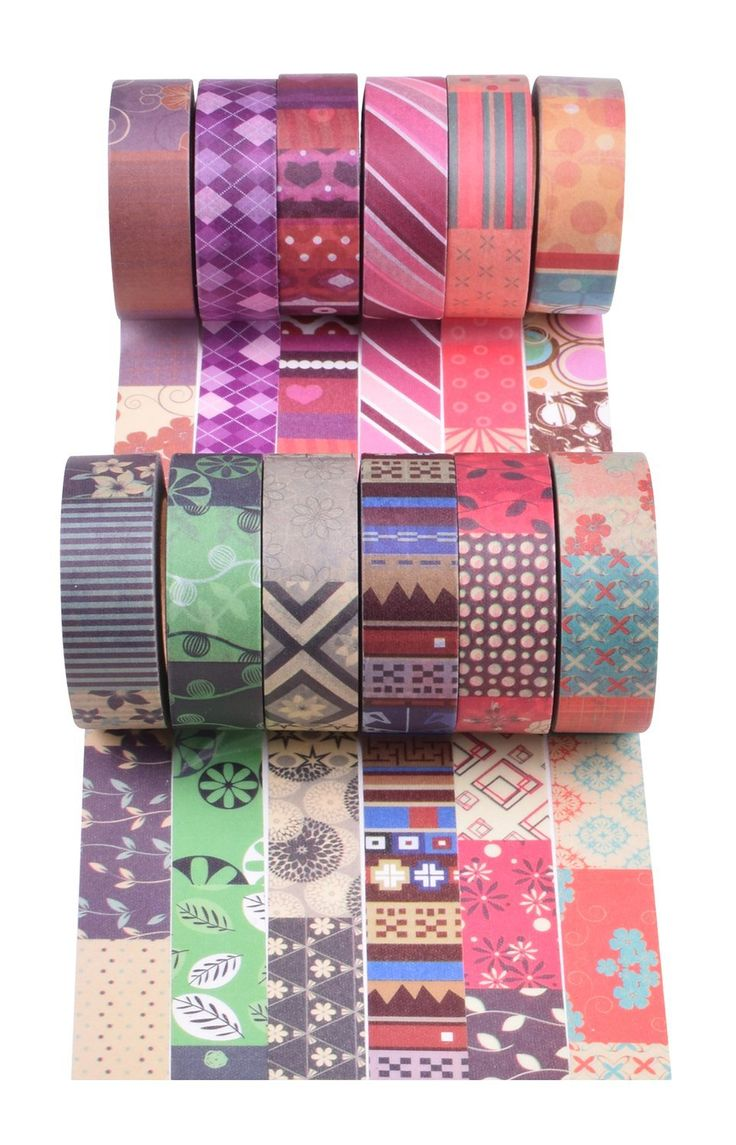 Amazon.com: Washi Tapes Decorative and Adhesive Tapes for Arts and Crafts Set of 12 Rolls