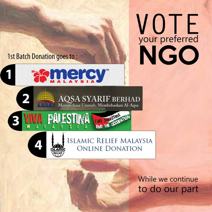 VOTE your preferred NGO to receive the funds we have raised from the sales of Humanitarian Sports Shirt. More info about the NGOs @ http://bit.ly/1pKpMpM  Just comment the number of your choice (1,2,3 or 4) #freepalestine #itisabouthumanity #savegaza #donationdrive