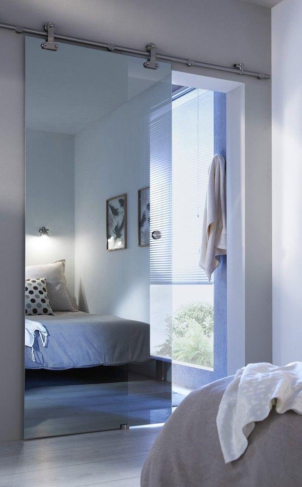 Porte Coulissante Verre Mirage Effet Miroir Petites Chambres Porte Coulissante Porte Coulissante Verre