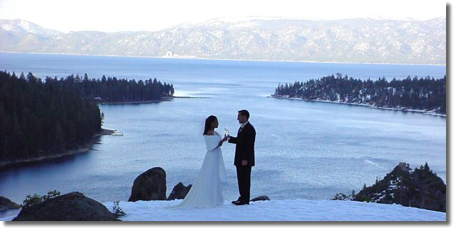 Another gorgeous shot from a Lake Tahoe wedding.