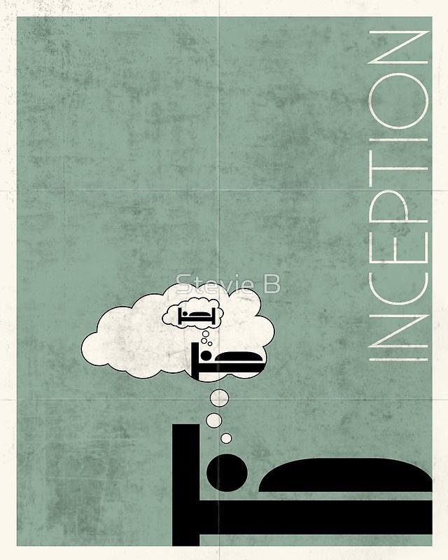 InceptionInception Minimal, Posters 201014, 01 Minimal, Posters 2010 15, Inception 2010, Favorite Movie, People, Movie Art, Minimal Movie Posters