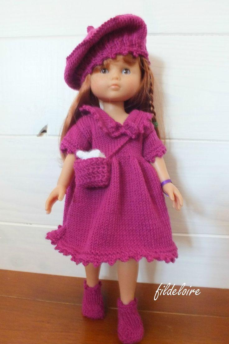 Nouvelle robe pour les poupées petites chéries de Corolle et Paola reina de 32/33 cm - fildeloire