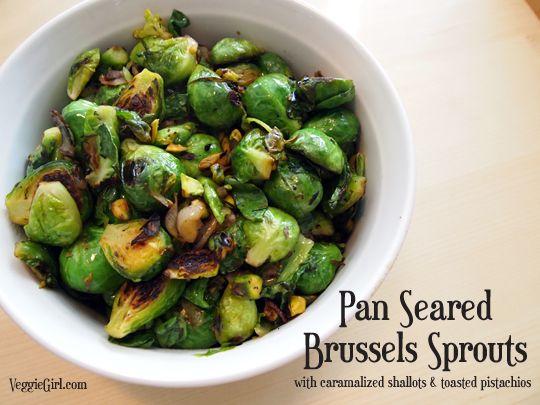 Pistacio brussel sprouts