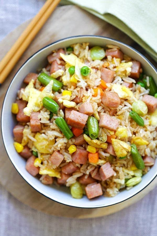 Spam fried rice is fried rice made with Spam. Easy spam fried rice recipe that is easy and tasty, everyone love spam fried rice. | rasamalaysia.com