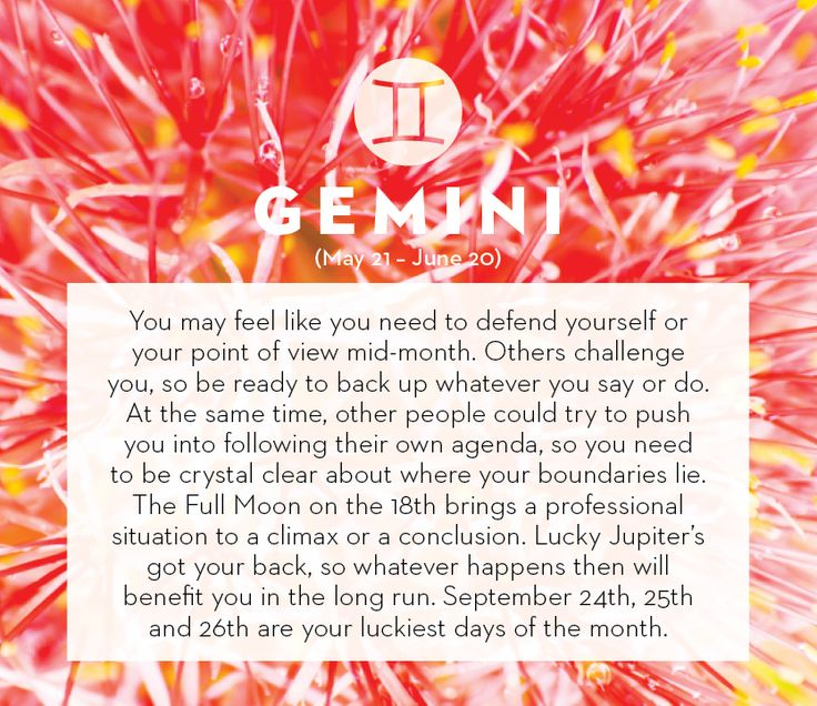 Nailed it to the tee this month. - September horoscope 2013: Gemini