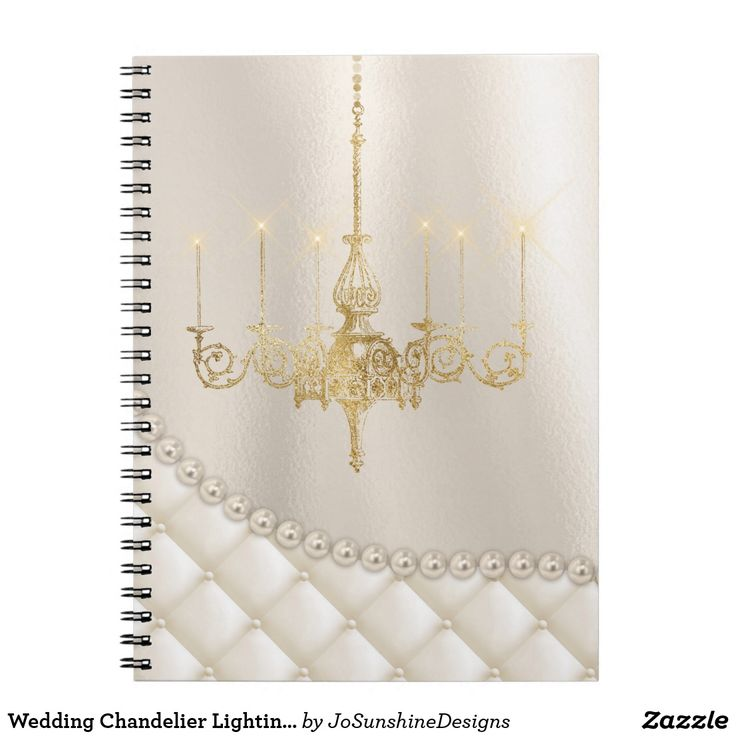 Wedding Chandelier Lighting Ivory Pearl Guest Book