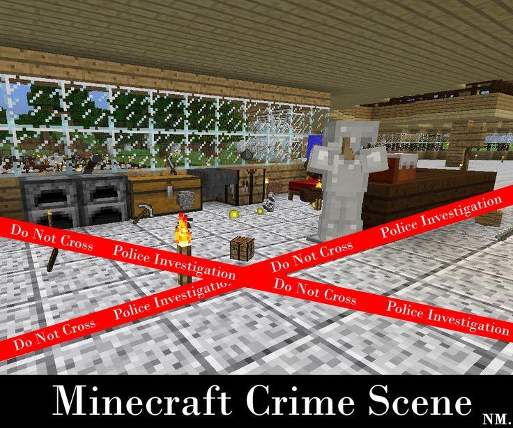 Minecraft Crime Scene