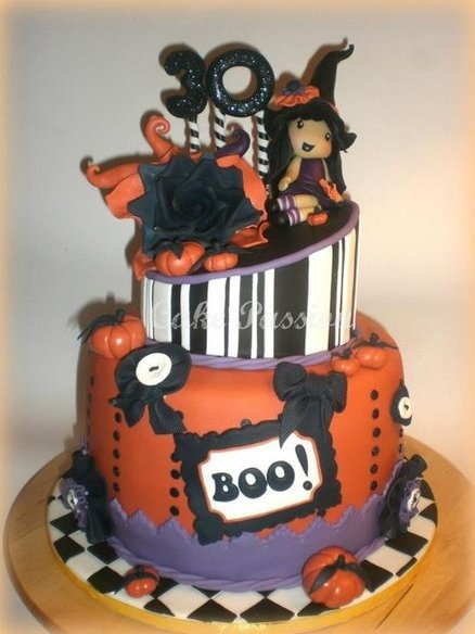 halloween cake by cakepassion cakesdecorcom cake decorating website - Halloween Decorated Cakes