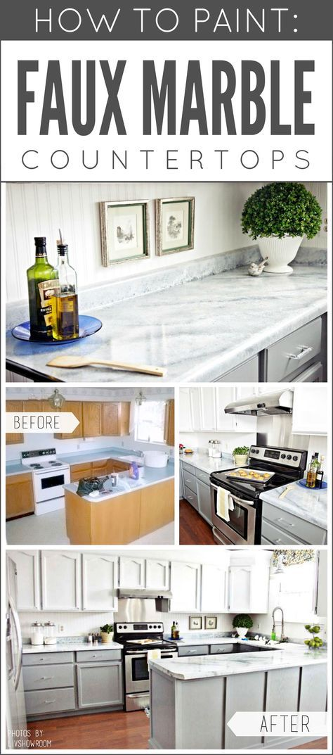 Dreaming of marble, but it isn't in the budget? Paint your own! Transform any countertop, desktop, or vanity into a custom faux marble finish using Giani™ stone paints for countertops.   www.gianigranite.com