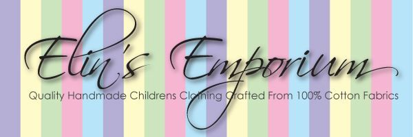 My Store - Children's Clothing & Accessories Handmade by me from pre-washed 100% cotton fabrics.