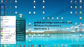 Windows 8 Türkçe Dil Paketi