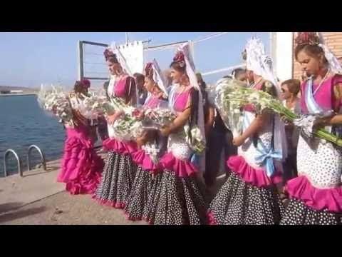 La Llegada De Nstra Señora Del Carmen Al Puerto Atunara La Linea 2016