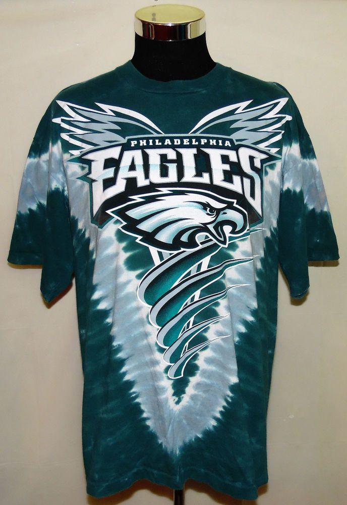 680a25bb Philadelphia Eagles NFL Football Vintage NFL Brand Tye Dye T-Shirt Size XL  USA #NFL #PhiladelphiaEagles