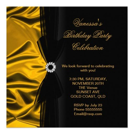 Best Invitations Images On Pinterest Th Birthday Birthday - Birthday invitation gold coast