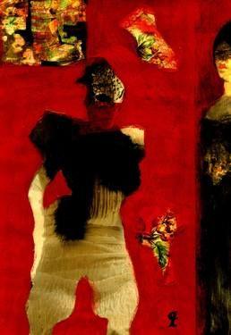 """Saatchi Art Artist CRIS ACQUA; Collage, """"41-LAUTREC x Cris Acqua."""" #art"""