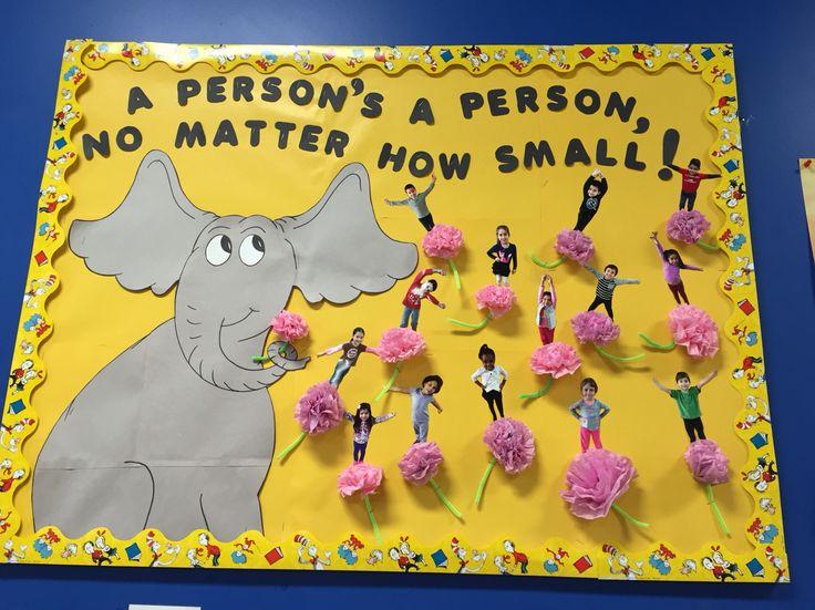 Classroom Decoration Ideas For Kindergarten ~ Horton hears a who bulletin board dr seuss ms yadi s