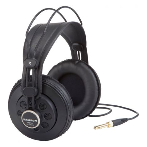With a self-adjusting headband for a secure, natural fit, the SR850s provide total comfort for extended studio sessions. An 1/8-inch to 1/4-inch gold plated adapter is included with the headphones.Samson's SR850 Professional Studio Reference Headphones offer an outstanding listening solution for musicians, sound engineers and general music enthusiasts alike.