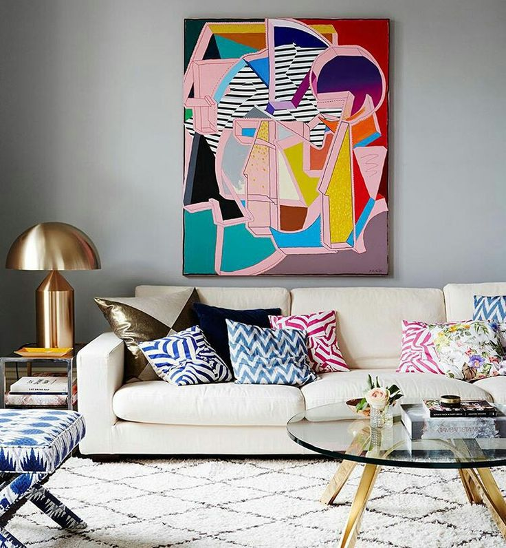 Original wall art can bring all the decorative elements together in a space.