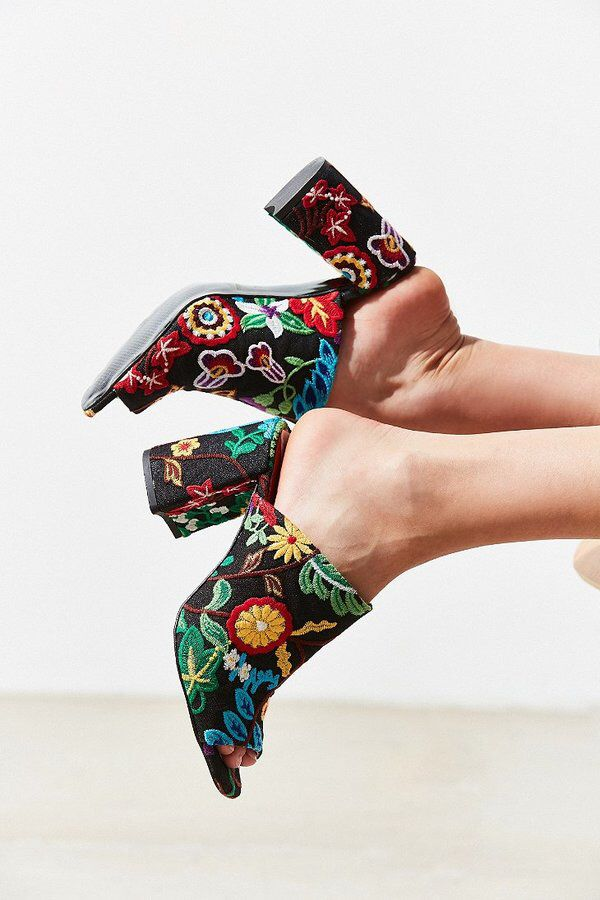 Crosswalk Embroidered Mule