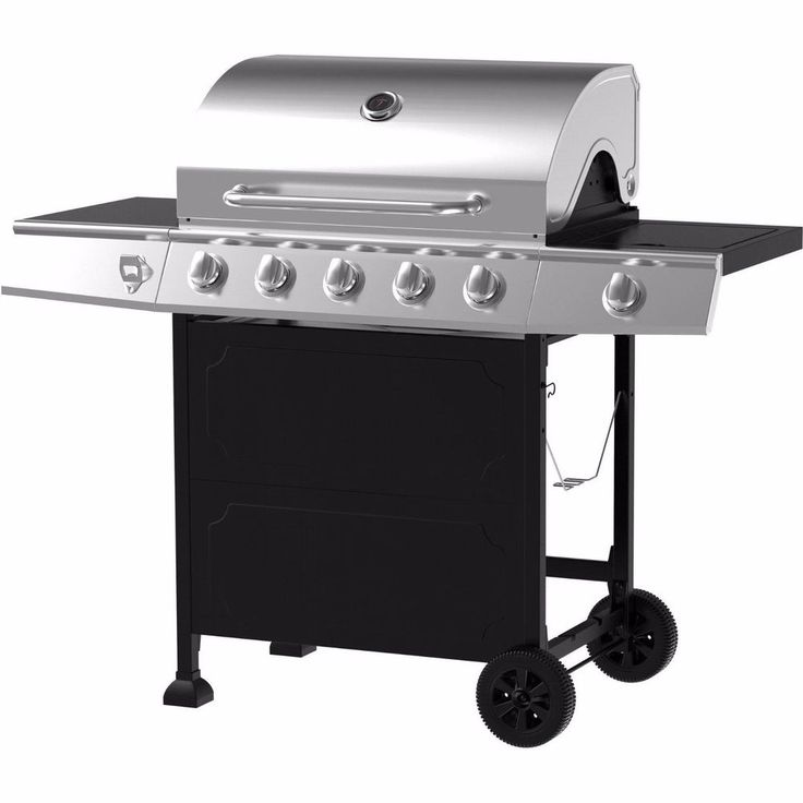 Outdoor Gas Grill 5 Burner Side Stainless Steel LP Propane BBQ Backyard Cooking #BackyardGrill