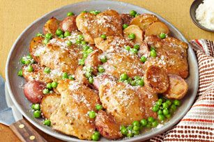 Poêlée de poulet à l'ail à la toscane - Du poulet doré et succulent prêt en 45 min, comment ne pas aimer ?