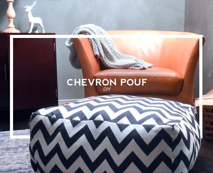 Diy chevron pouf tutorial aka a dogs cozy day bed day for Diy ottoman bed frame